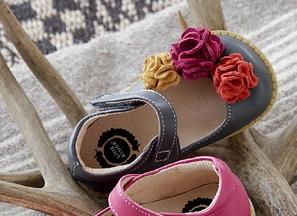 Livie and Luca Leather Shoes for Girls in Gray