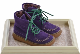 Livie and Luca Moccasin Boots for Girls in Grape (Size 4Infant)