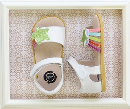Livie and Luca Nova Milk Girls Sandals with Glitter Star