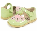 Livie and Luca Patent Leather Girls Shoes in Petunia Green