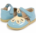 Livie and Luca Petal Daisy Blue Shoes for Girls