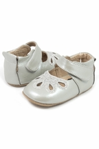 Livie and Luca Petal Shoes for Babies in Silver