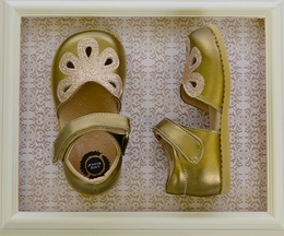 Livie and Luca Petal Shoes in Brass Gold
