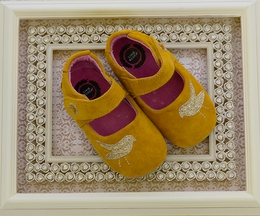 Livie and Luca Pio Pio Baby Shoes in Marigold Yellow