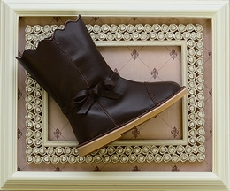 Livie and Luca Reina Mocha Leather Boots for Girls