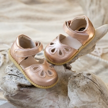 Livie and Luca Rose Gold Petal Girls Shoes
