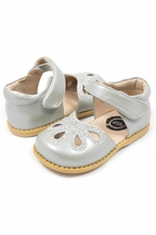 Livie and Luca Silver Shoes in Girls Petal