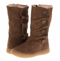 Livie and Luca Suede Boots for Girls Marchita Taupe