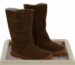 Livie and Luca Suede Boots for Girls Marchita Tiempo Taupe�