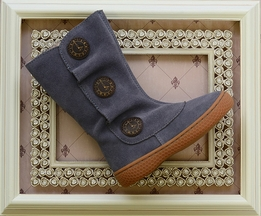 Livie and Luca Tiempo Boots for Girls in Slate Blue