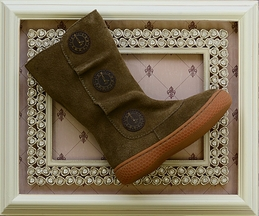 Livie and Luca Boots Tan Suede Girls (4i,6,7,10)