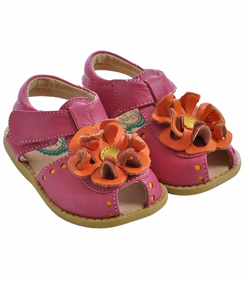 Livie & Luca Fuchsia Bloom Girls Shoes (Size 4 Infant)