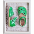 Livie & Luca Girls Petal Shoes in Green