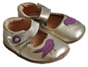 Livie & Luca Infant Girls Shoes Gold with Bird
