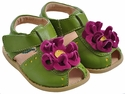 Livie & Luca Lime Bloom Girls Sandals