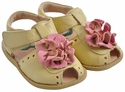 Livie & Luca Yellow Bloom Girls Sandals