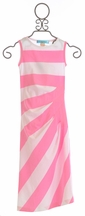 Lollipop Twirl Pink Maxi Girls Dress (Size 7)