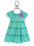 Love U Lots Coverup Dress in Teal Blue for Girls