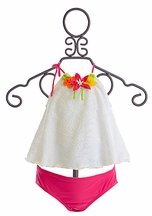 Love U Lots Crochet Tankini for Girls (2T,3T,5,6,6X)
