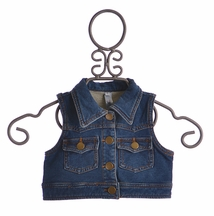 Love U Lots Designer Cropped Denim Jacket for Girls (Size 2T)