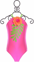 Love U Lots Flower Leaf One Piece (5 & 6X)