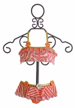 Love U Lots Girls Bikini in Coral and Gold (2T & 3T)