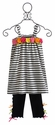 Love U Lots Girls Capri Outfit Black and White Stripe - 2T, 4 & 6