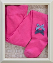 Love U Lots Girls Designer Tights in Fuchsia (Size 2-4)