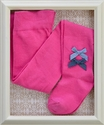 Love U Lots Girls Designer Tights in Fuchsia