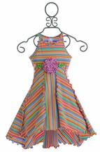 Love U Lots Girls Hi Lo Dress with Stripes (2T & 5)