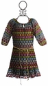 Love U Lots Girls Peasant Dress with Gold Belt