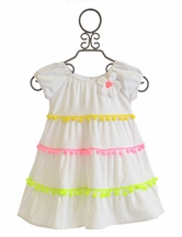 Love U Lots Girls Swim Coverup in Pom Pom Color (18Mos,2T,4,6)