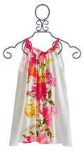 Love U Lots Girls White Summer Dress (Size 2T)