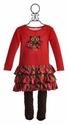 Love U Lots Little Girls Owl Dress with Tights