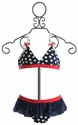 Love U Lots Little Girls Patriotic Swimsuit