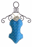 Love U Lots One Piece Swimsuit for Girls Silver Polka Dots