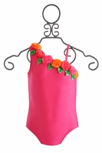 Love U Lots One Shoulder Girls Swimsuit (Size 2T)