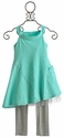Luna Luna Copenhagen Aqua Tatum Girls Dress with Leggings