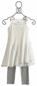 Luna Luna Copenhagen Tatum Girls White Dress with Leggings