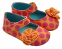 Luv Choo Orange and Pink Dotty Infant Shoes