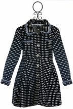 Mack and Co Black and White Polka Dot Coat for Girls