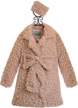 Mack and Co Elegant Girls Coat with Bow in Pink (6X,7,8)