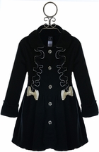Mack and Co Fleece Coat for Girls with Pearls and Bows