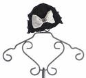 Mack and Co Girls Fancy Winter Hat Ivory Bow