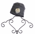 Mack and Co Girls Winter Hat Ruffle Charcoal