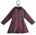 Mack and Co Hi-Low Winter Coat Lattice Girl