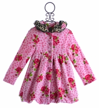 Mack and Co Little Girls Winter Coat in Bubble Hem (4T, 4, 6)