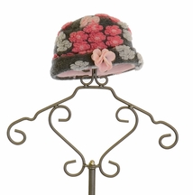 Mack and Co Pink Flower Hat in Gray
