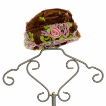Mack and Co Plush Brown Hat with Flowers