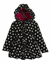 Mack and Co Polka Dot Puffer Coat for Girls (2T & 6X)